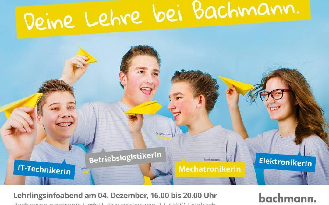 Termintipp: Lehrlingsinfoabend bei Bachmann Electronic